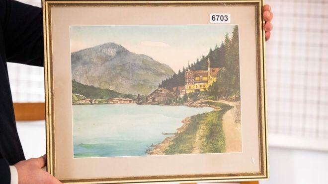 """""""نقاشیهای هیتلر"""" در حراجی آلمان فروش نرفت"""