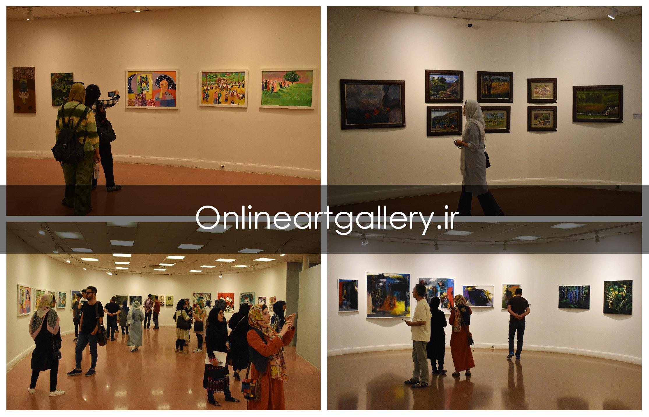 گزارش تصویری نهمین کارنمای پژوهشی انجمن هنرمندان نقاش در خانه هنرمندان (بخش سوم)