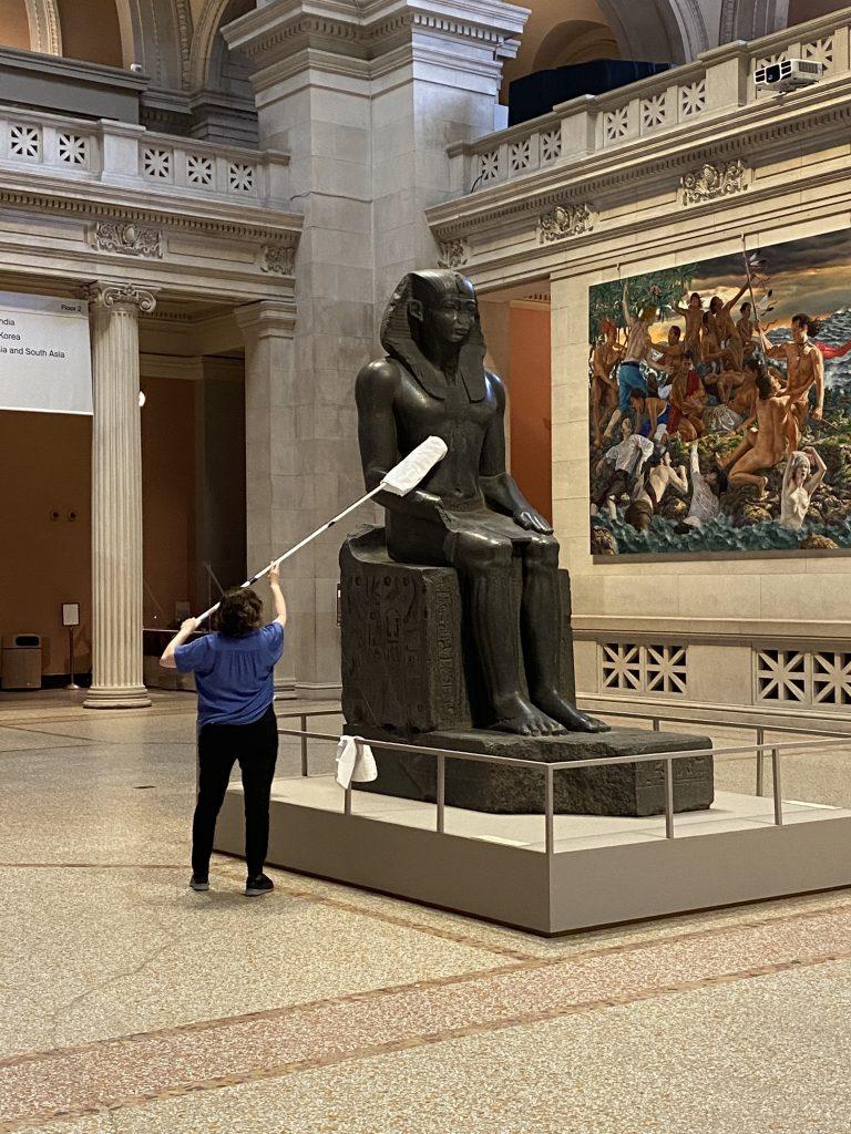 حال و هوای موزه هنر Metropolitan پس از گشایش در دوران کرونا