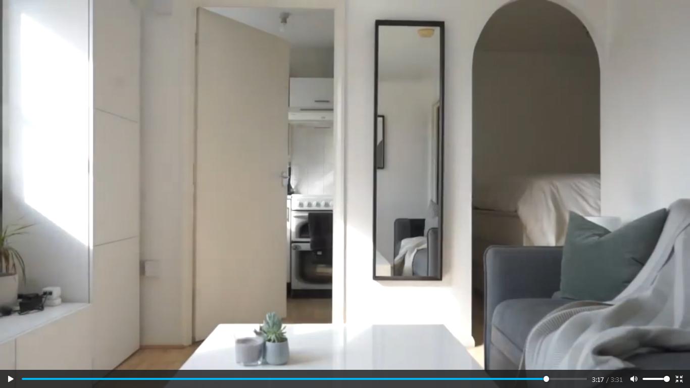 میکرو آپارتمان کوچک مینیمالیستی