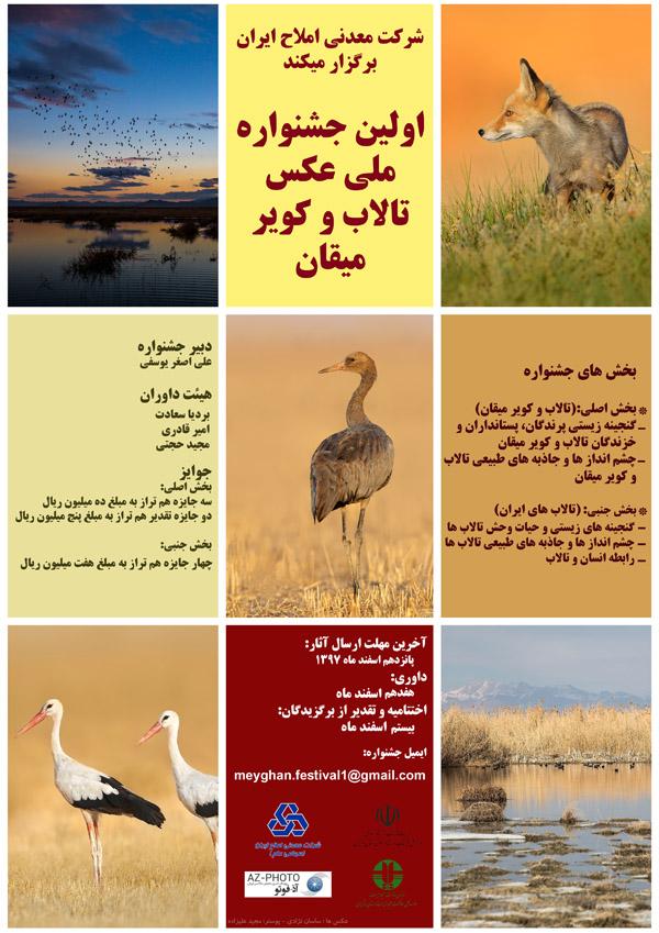 فراخوان اولین جشنواره ملی عکس تالاب و کویر میقان
