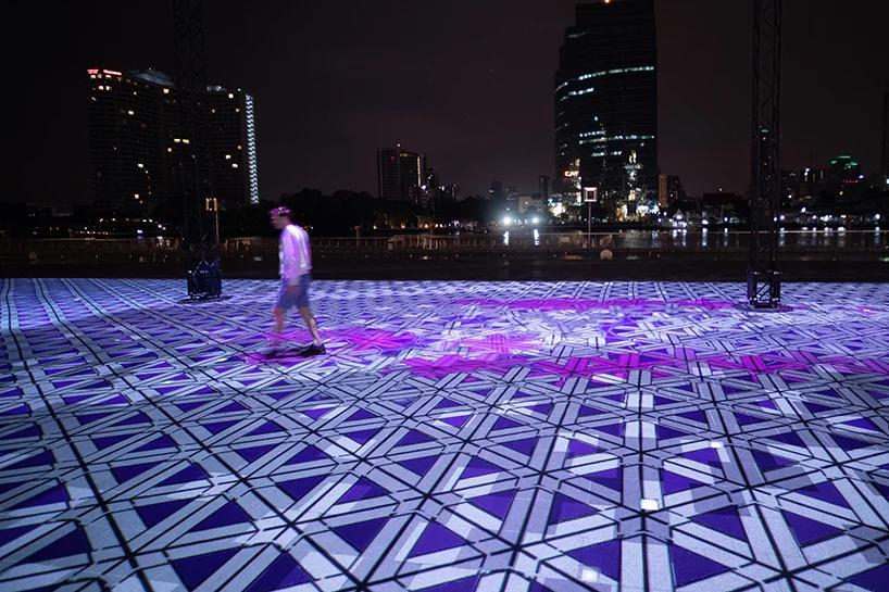 فرشی از نور در بانکوک