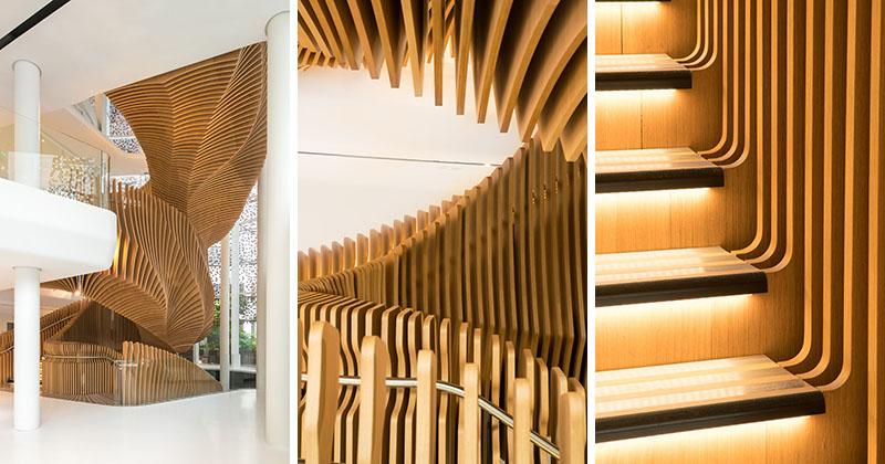 خلاقیت در طراحی راه پله با پیروی از سبک معماری پارامتریک