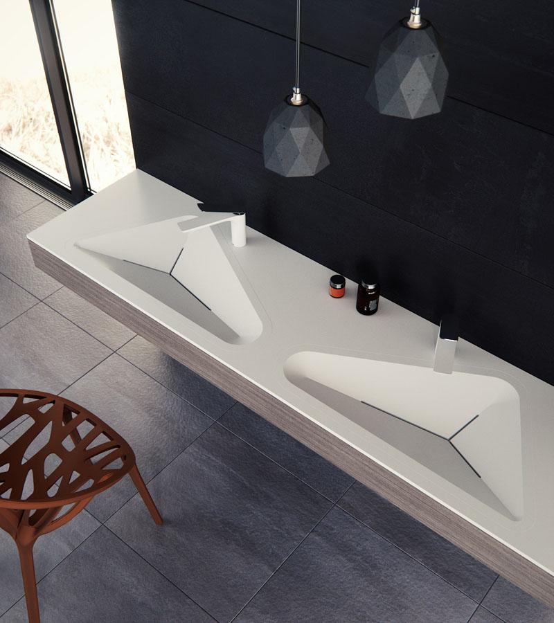طراحی مدرن سینک حمام ملهم از اشکال و اشیا موجود در محیط شهری