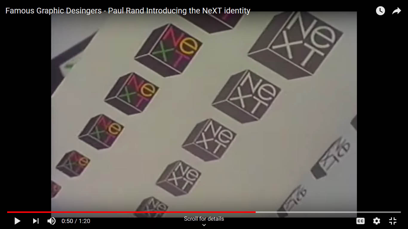 ویدئو مراسم رونمایی لوگو شرکت NEXT توسط هنرمند پیشکسوت گرافیست Paul Rand