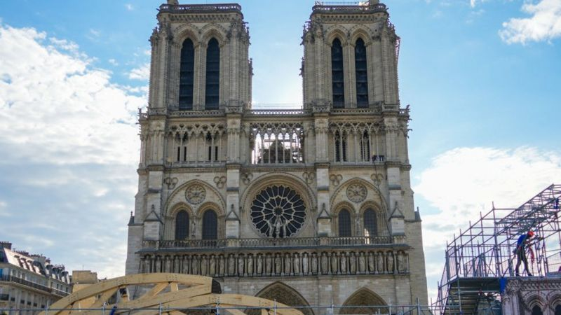 عملیات ایمنسازی کلیسای نوتردام پاریس پایان یافت