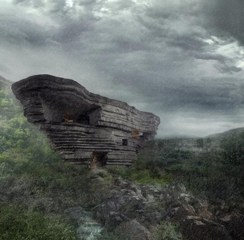 تالار کنسرت صخره ای در مرز شمالی پکن