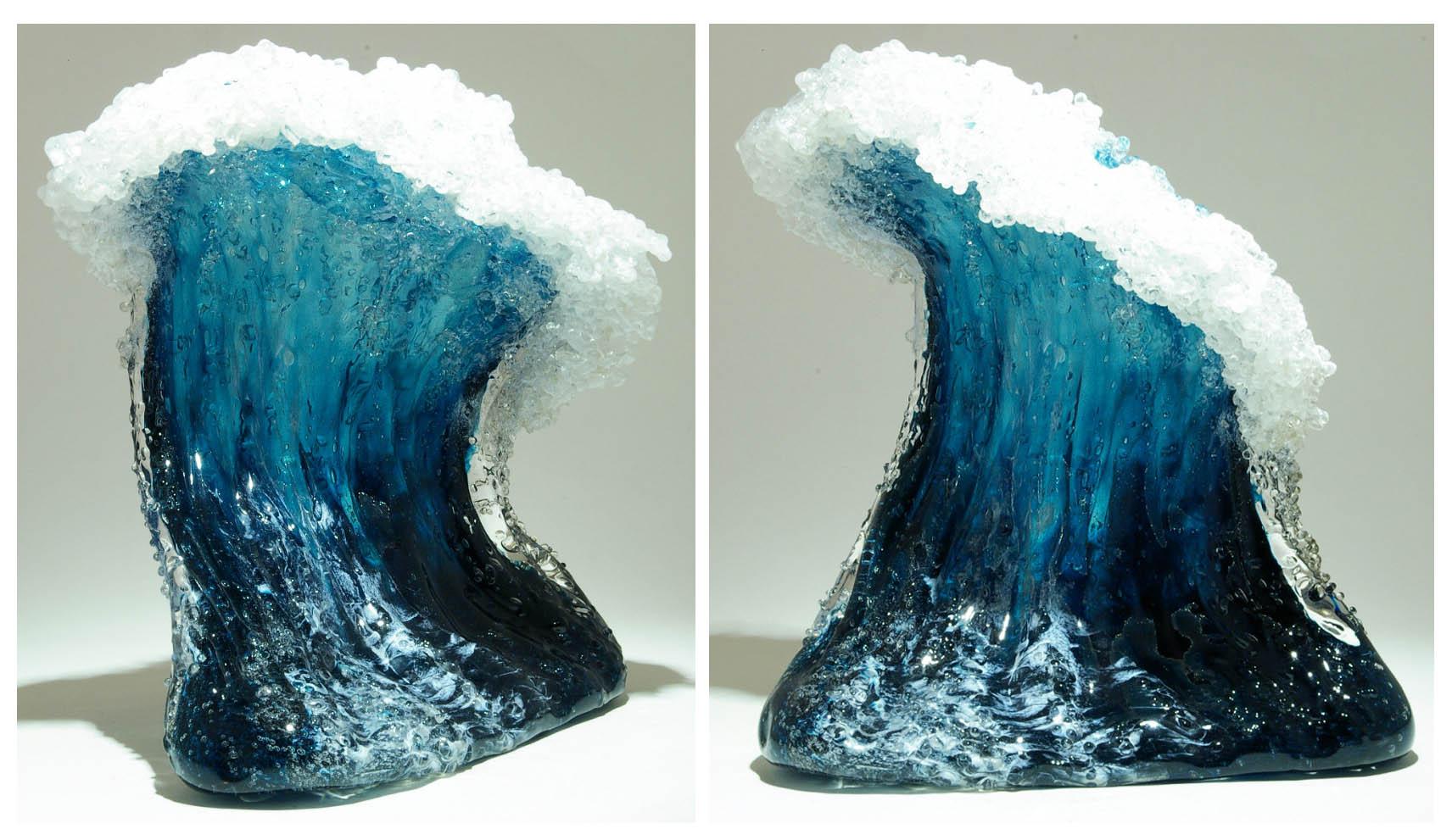 موج های اقیانوس به مثابه گلدان