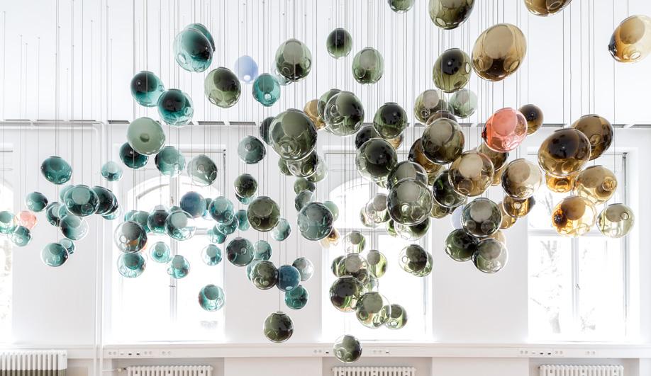 پنج چراغ آویز خوشه ای در طراحی فضای داخلی