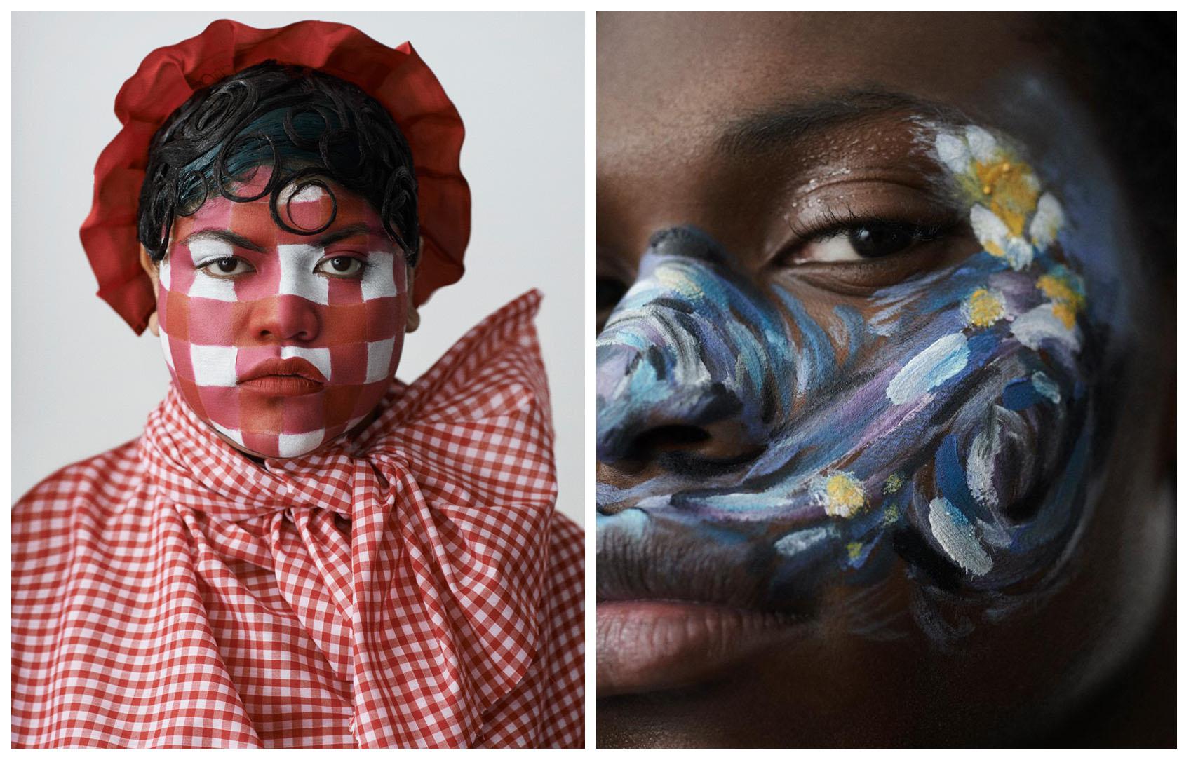 فیبی والترز، اثری رنگین بر چهرهی زیبایی خلق میکند