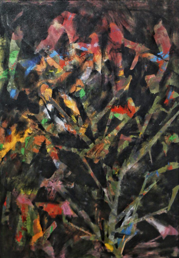 نگاهی به نقاشی های اعظم کاشی / گالری بن / تیرماه ۱۳۹۶