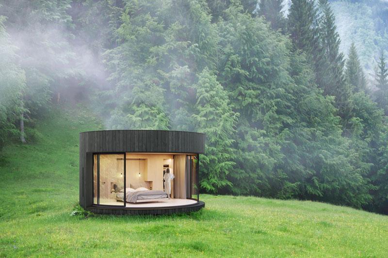 خانه شیشه ای پیش ساخته برای ارتباط مستقیم با طبیعت