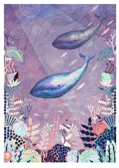 پترن و جزئیات بسیار در تصویرسازی های Hannah Davies