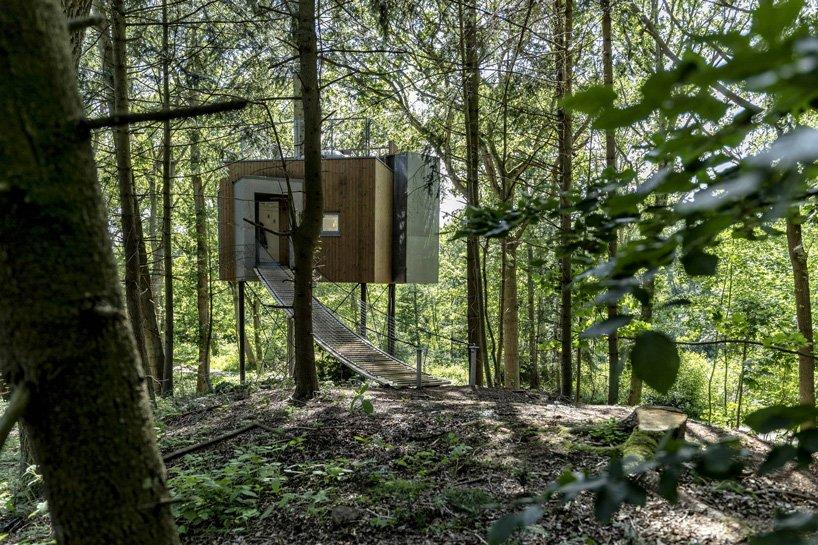 ساخت 9 کلبه چوبی برای هتل درختی  løvtag درfjord دانمارک توسط sigurd larsen