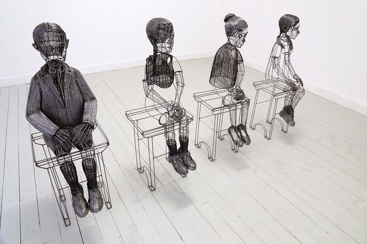 مجسمه های ساخته شده از سیم، توسط «Roberto Fanari» مجسمه ساز ایتالیایی