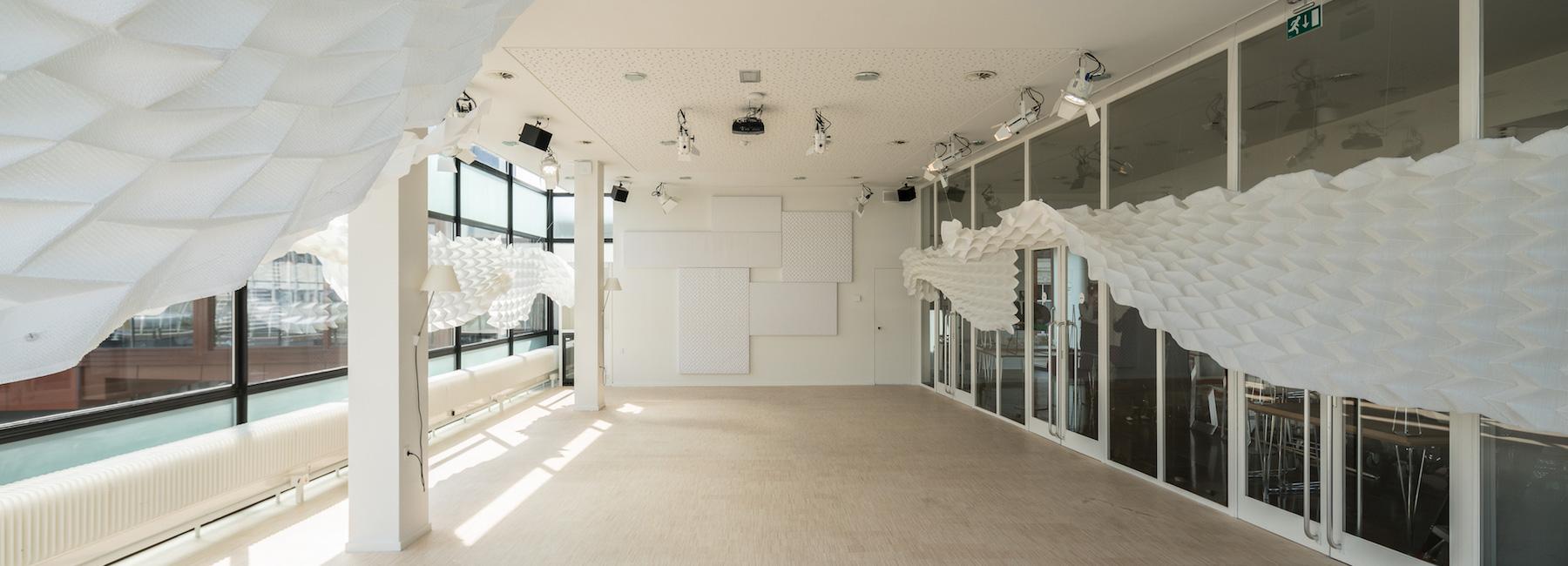 ساخت فضاهای کاری پربار با استفاده از عناصر آکوستیک منسوجات سه بعدی