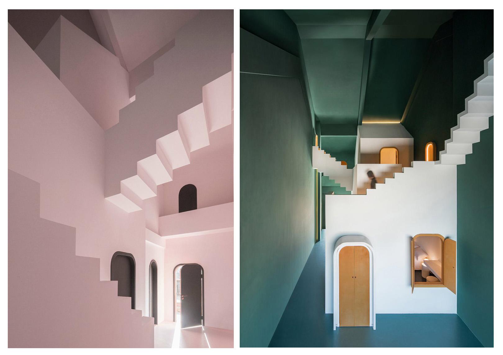 طراحی داخلی هتلی مارپیچ ملهم از آثار Escher