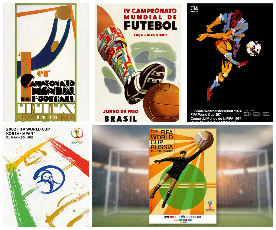 پوسترهای جام جهانی از سال 1930 تا 2018