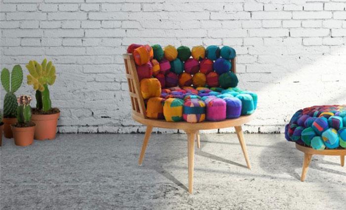 ایده خلاقانه استفاده از نساجی در طراحی مبلمان توسط Meb Rure