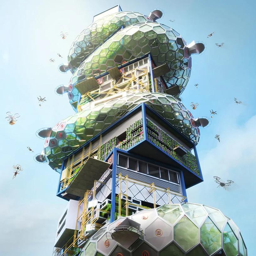 پیشنهاد یک شهر عمودی آینده برای توکیو