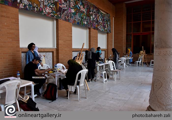 """همزمان با """"جشنواره نقاشان نوگرای البرز"""" ورکشاپ تخصصی برگزار شد"""