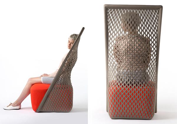 طراحی پشتی منعطف و شبکه ای برای صندلی راحتی