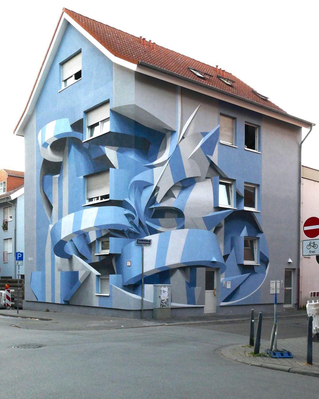 نقاشیهای دیواری با خطای دید سه بعدی