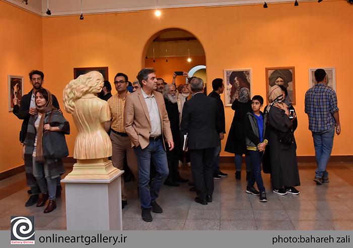 گزارش تصویری نمایشگاه آثار هادی ضیاءالدینی در مؤسسه صبا (بخش دوم)
