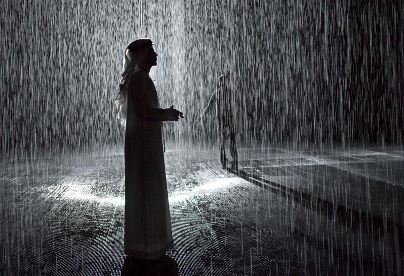 تجربه باران بی وقفه در کویر