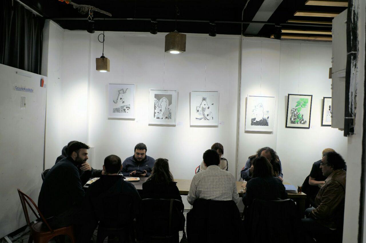 گزارش تصویری نمایشگاه هنرجویان دکتر نامدار در استانبول
