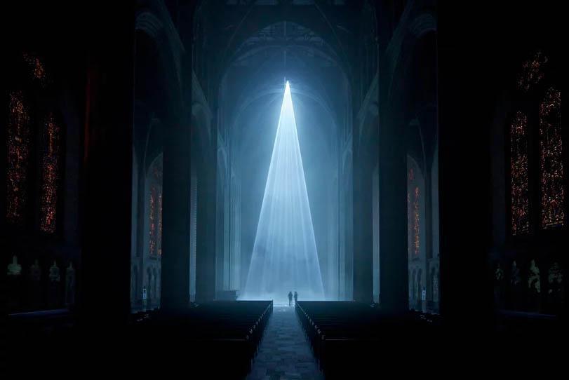 """""""نور فضیلت"""" کلیسای جامع سان فرانسیسکو را روشن می کند"""