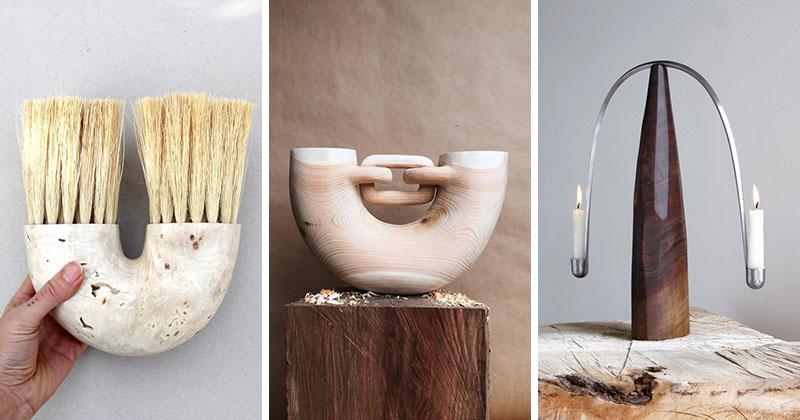 مجسمههای چوبی و ابزار خانگی خلاقانه