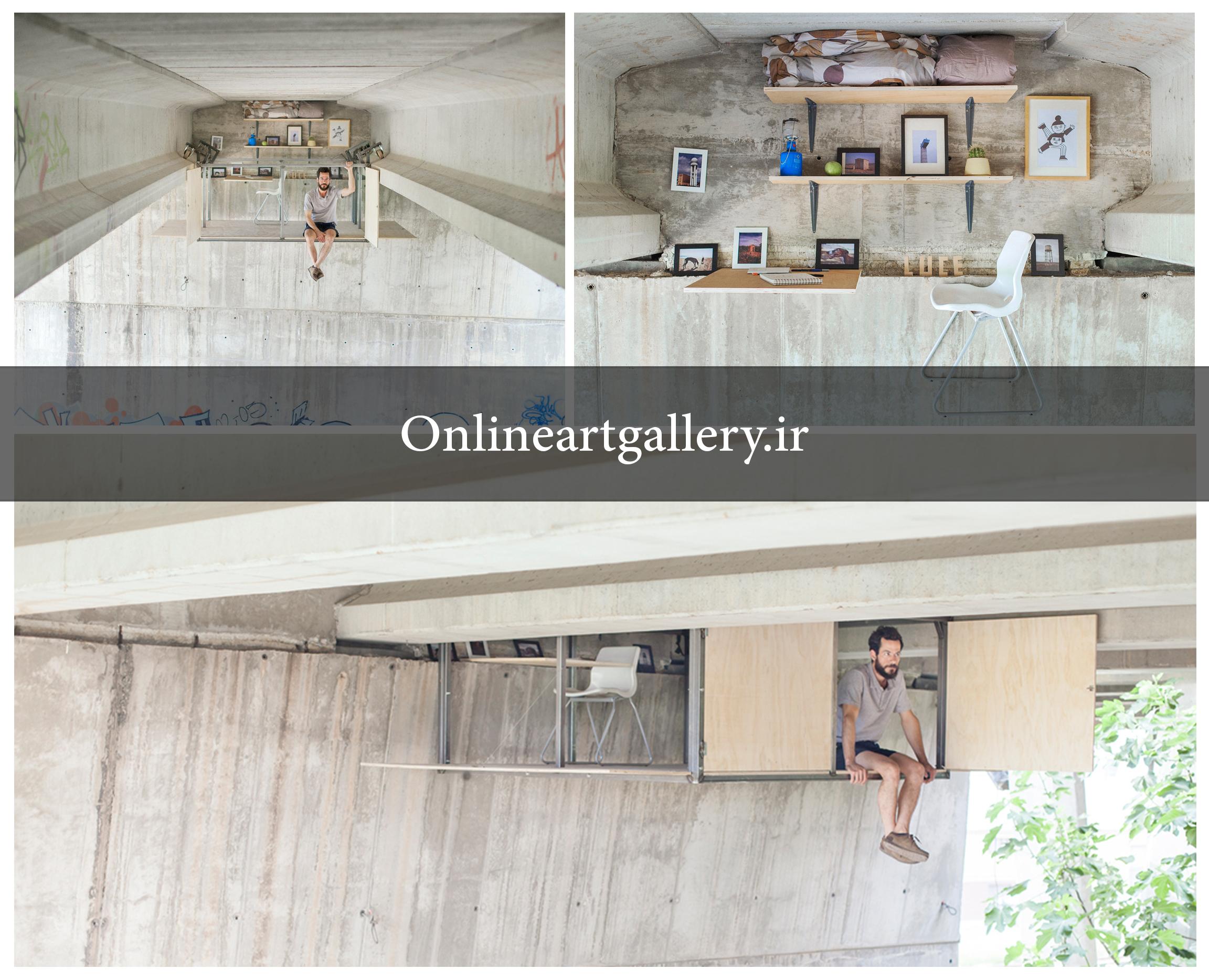 خلاقیت در معماری / آتلیه پنهان هنرمند زیر یک پل