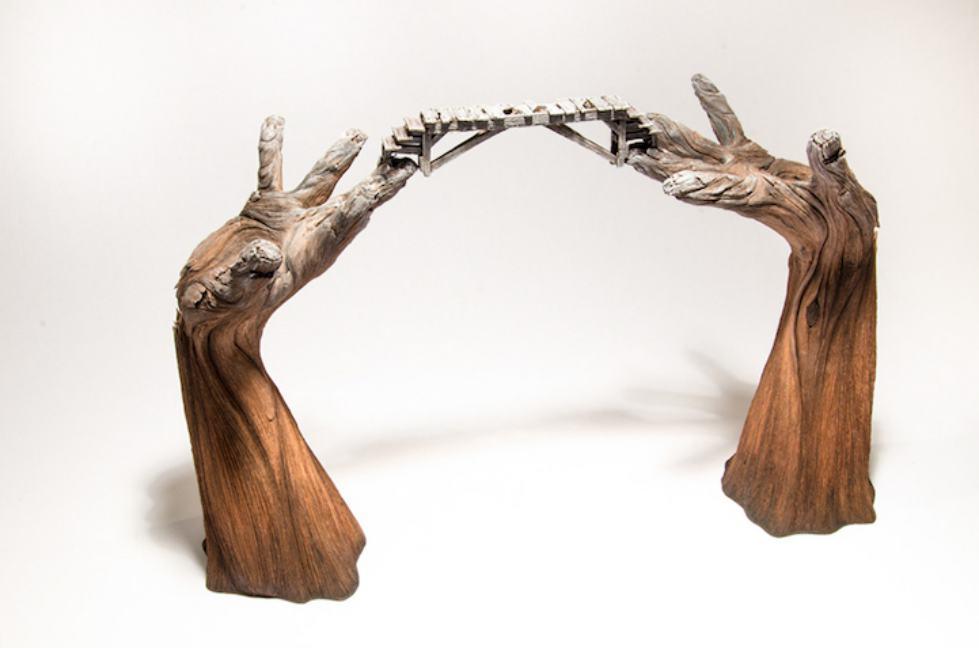 مجسمههای سرامیکی با ظاهری چوبی