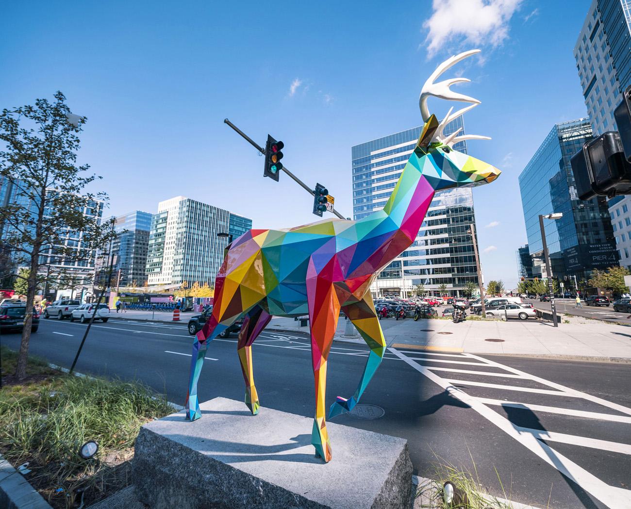 مجسمههای رنگارنگ Okuda در خیابانهای بوستون