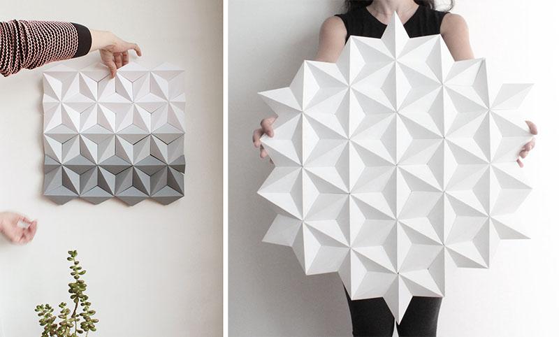 دیوار اوریگامی در دکوراسیون داخلی