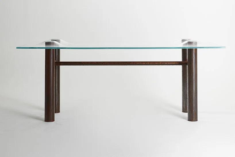 استفاده از سیالیت شیشه در طراحی میز